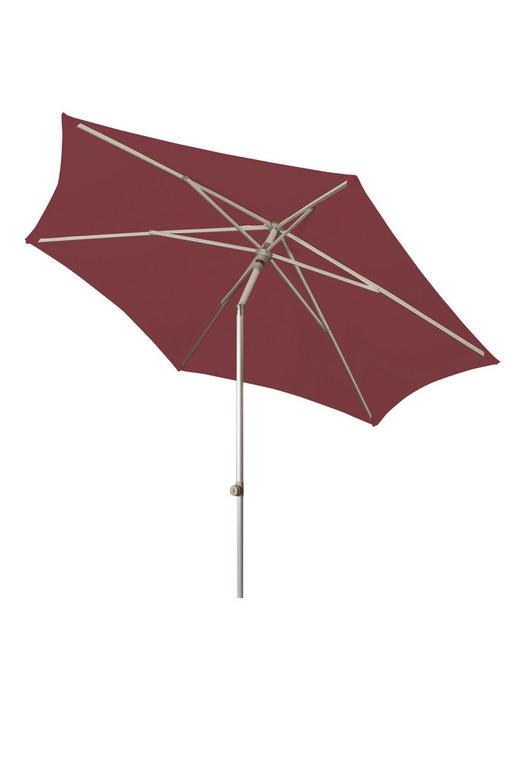 SONNENSCHIRM 270 cm Rot - Rot, KONVENTIONELL, Textil/Metall (270cm)