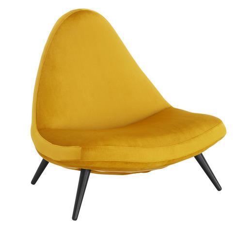 SESSEL in Textil Goldfarben - Goldfarben/Schwarz, Design, Holz/Textil (98/93/87cm) - Lomoco