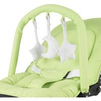 SCHAUKELWIPPE - Silberfarben/Hellgrün, Basics, Kunststoff/Textil (50/40/74cm) - MY BABY LOU