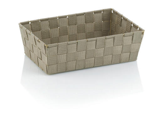KORB - Taupe, Basics, Textil (29,5/20,5/8,5cm)