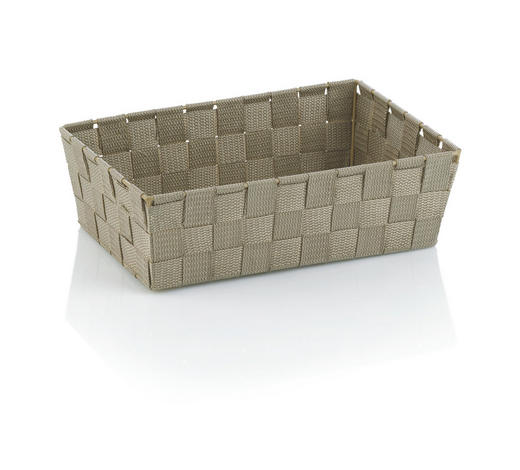 KOŠARA ALVARO, NATUR - sivo rjava, Konvencionalno, umetna masa (29,5/20,5/8,5cm) - Kela