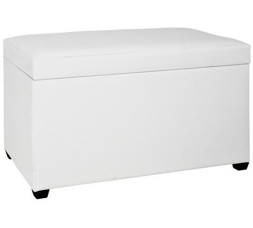 TRUHENBANK Weiß  - Schwarz/Weiß, Design, Kunststoff (65/42/40cm)