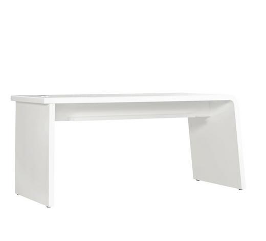 SCHREIBTISCH - Beige/Weiß, Design, Glas/Holzwerkstoff (160/75/60cm)