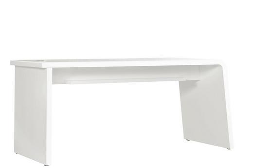 SCHREIBTISCH Beige, Weiß - Beige/Weiß, Design, Glas (160/75/60cm)