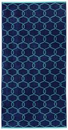 STRANDTUCH 90/180 cm - Blau/Mintgrün, Design, Textil (90/180cm) - Novel