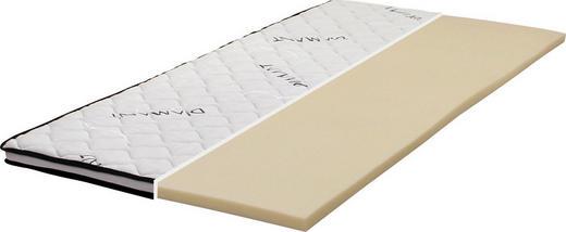 TOPPER 140/200 cm Schaumstoffkern - Weiß, Basics, Textil (140/200cm) - Carryhome