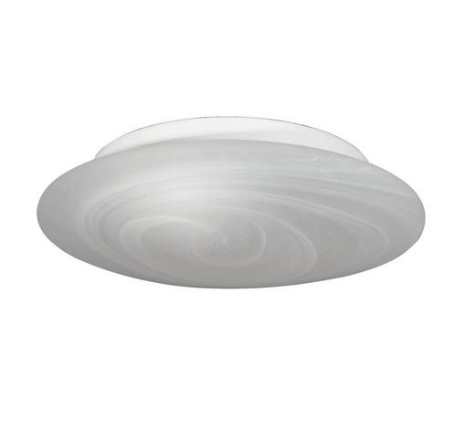 STROPNÍ SVÍTIDLO 25 CM - bílá, Basics, kov/sklo (25cm)