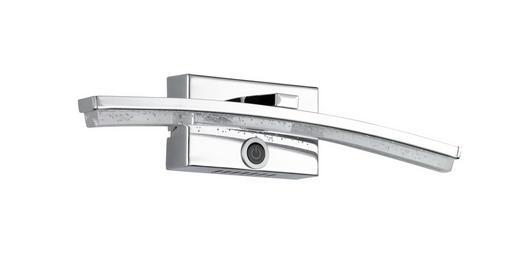 LED-WANDLEUCHTE - Chromfarben, Design, Kunststoff/Metall (32/7,5/7cm)