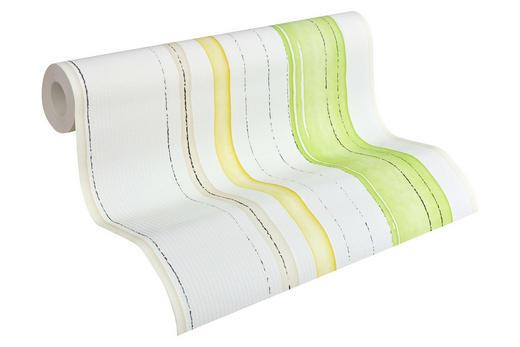 vliestapete gestreift 10,05 m - Gelb/Hellgrün, Basics, Textil (53/1005cm) - Esprit
