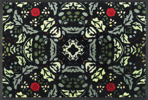FUßMATTE 50/75 cm Graphik Dunkelgrün, Multicolor - Dunkelgrün/Multicolor, Basics, Kunststoff/Textil (50/75cm) - Esposa