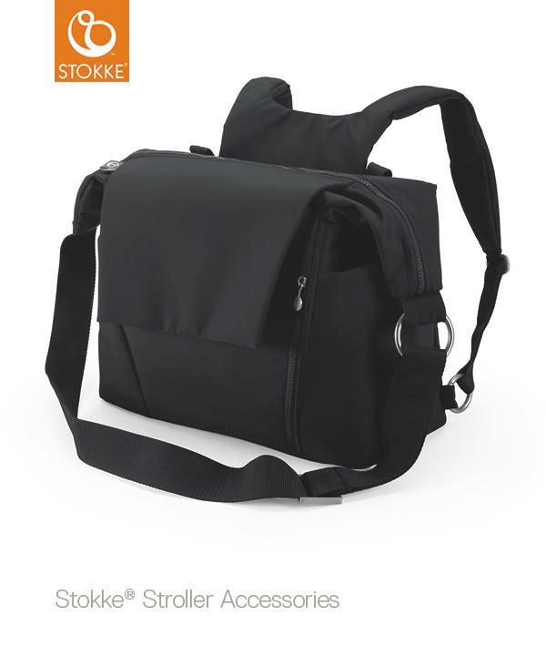 stokke changing bag - svart, Basics, textil (55/41/13cm) - Stokke