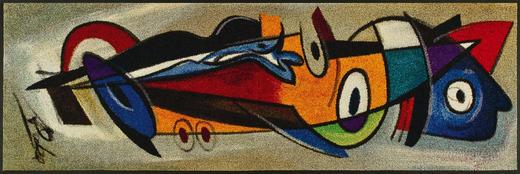 FUßMATTE 60/180 cm Abstraktes Multicolor - Multicolor, Basics, Kunststoff/Textil (60/180cm) - Esposa