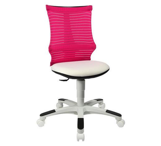 JUGENDDREHSTUHL Rosa, Weiß  - Rosa/Weiß, Basics, Kunststoff/Textil (45/85-98/39cm) - Ben'n'jen