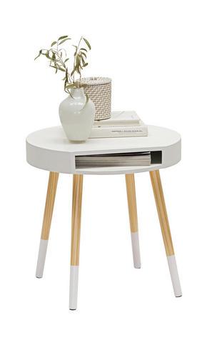 AVLASTNINGSBORD - vit/furufärgad, Design, trä/träbaserade material (46/47cm) - Carryhome