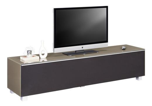 TV-ELEMENT Sandfarben, Schwarz - Sandfarben/Schwarz, Design, Glas/Holzwerkstoff (180/43/42cm) - Voleo