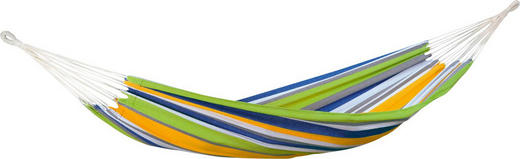 HÄNGEMATTE - Blau/Gelb, KONVENTIONELL, Textil (100/310cm)