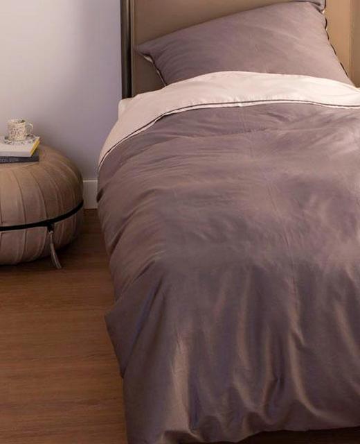 BETTWÄSCHE Makosatin Anthrazit, Sandfarben 135/200 cm - Sandfarben/Anthrazit, Textil (135/200cm) - Schöner Wohnen
