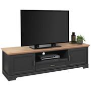 Tv-element in Eichefarben, Graphitfarben - Eichefarben/Graphitfarben, ROMANTIK / LANDHAUS, Holzwerkstoff/Metall (193/54/51cm) - Hom`in