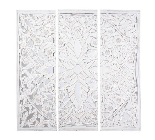 DEKOSPIEGEL Weiß  - Weiß, Trend, Glas/Holzwerkstoff (120/120/2,5cm) - Ambia Home