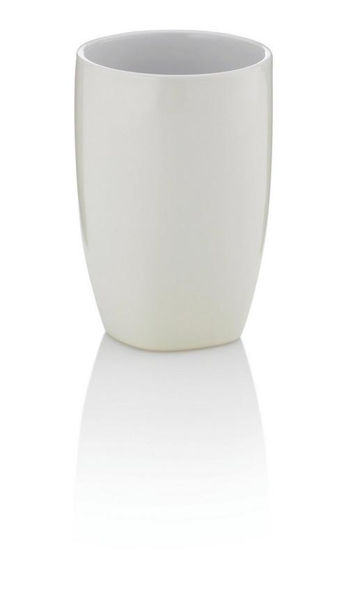 ZAHNPUTZBECHER - Beige, KONVENTIONELL, Keramik (7,5/10,5cm)