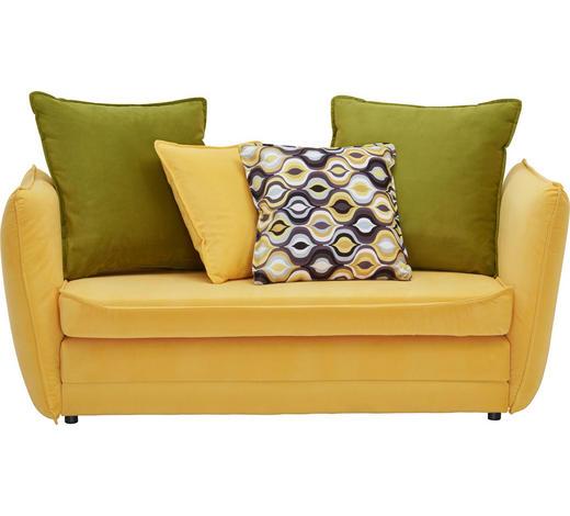 POHOVKA PRO DĚTI A MLÁDEŽ, textil, hnědá, žlutá, zelená - černá/zelená, Design, textil/umělá hmota (145/63-77/75cm) - Ti`me