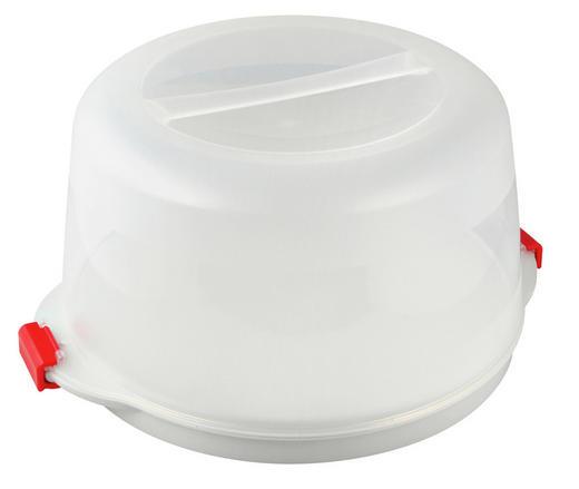 KUCHENTRANSPORTBOX - Transparent/Weiß, Basics, Kunststoff (38,5/19cm) - Dr.Oetker