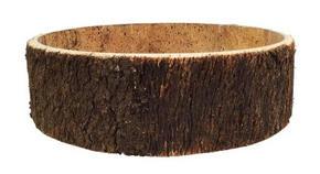 PLANTERINGSSKÅL - brun, Natur, trä (21,5/8cm) - Ambia Home