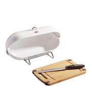 Wesco Breadboy Brotbox - Weiß, Basics, Metall (28/43/22cm) - Wesco