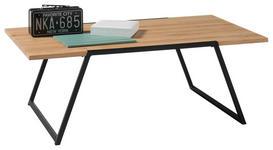 COUCHTISCH in Holz, Metall 110/60/38 cm   - Eichefarben/Schwarz, Design, Holz/Metall (110/60/38cm) - Hom`in
