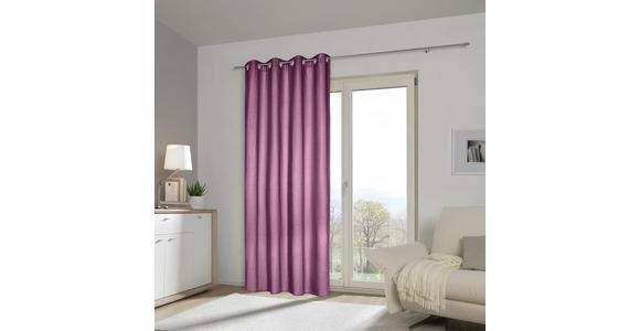 ÖSENVORHANG blickdicht  - Lila, Basics, Textil (140/245cm) - Esposa