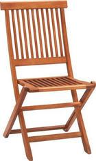 ZAHRADNÍ SKLÁPĚCÍ ŽIDLE - barva teak, Konvenční, dřevo (46/89/57cm) - AMBIA GARDEN