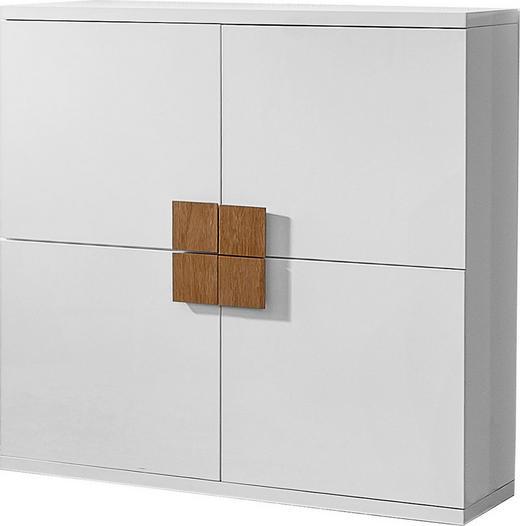 KOMMODE Braun, Weiß - Braun/Weiß, Design, Holz/Holzwerkstoff (120/120/40cm) - Xora