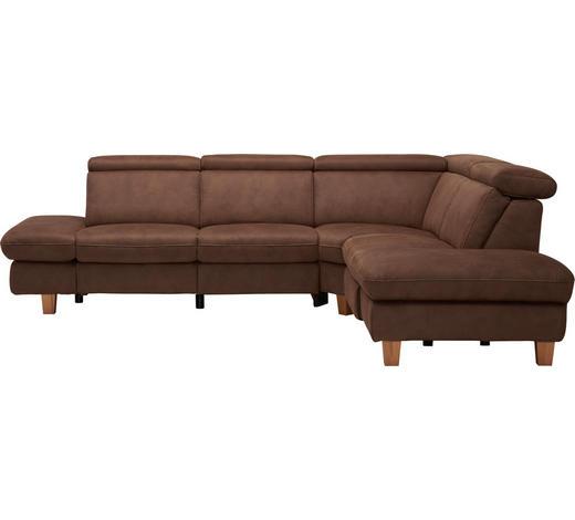 WOHNLANDSCHAFT in Textil Braun - Beige/Buchefarben, LIFESTYLE, Holz/Textil (271/242cm) - Cantus
