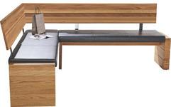 ECKBANK in Holz, Textil Eichefarben, Schwarz - Eichefarben/Schwarz, KONVENTIONELL, Holz/Textil (171/208cm) - Cantus