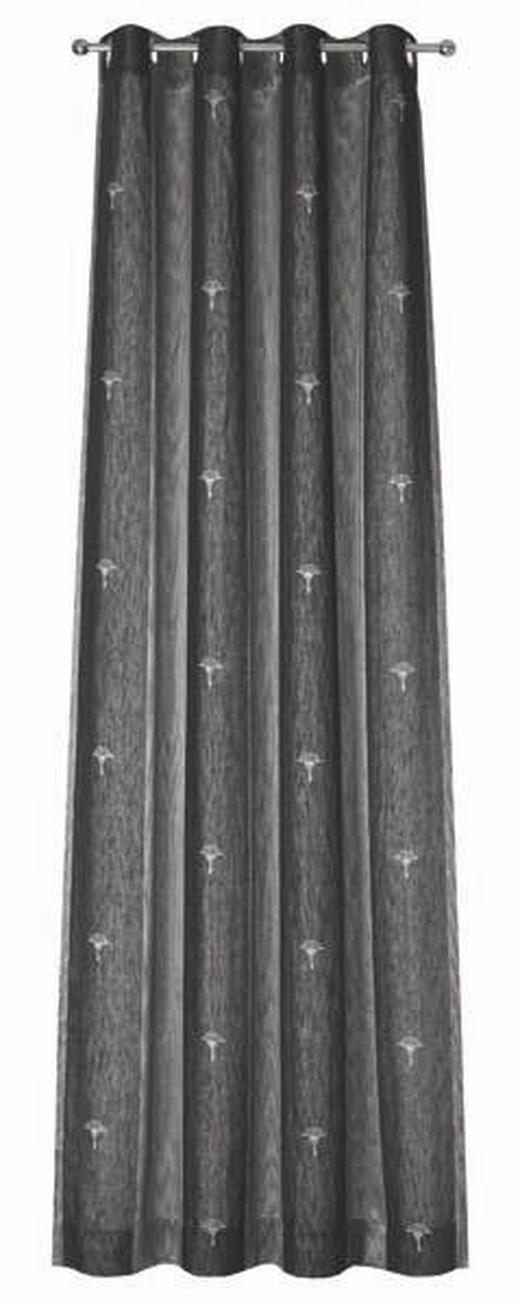 ÖSENSCHAL  blickdicht   140/250 cm - Dunkelgrau/Grau, Basics, Textil (140/250cm) - Joop!