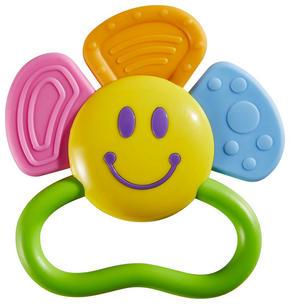 BEIßRING MIT RASSEL - multicolor, Basics, plast (11/11cm) - My Baby Lou