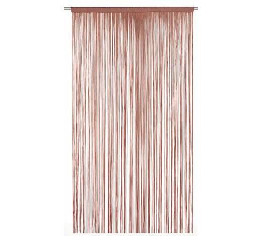 ŠPAGETI ZAVJESA - tamno smeđa, Konvencionalno, tekstil (90/245cm) - Boxxx