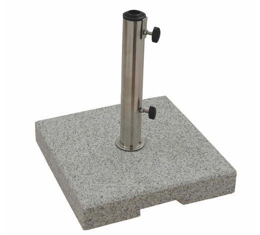SONNENSCHIRMSTÄNDER Granit Grau  - Grau, Basics, Stein (38/7/38cm) - Doppler
