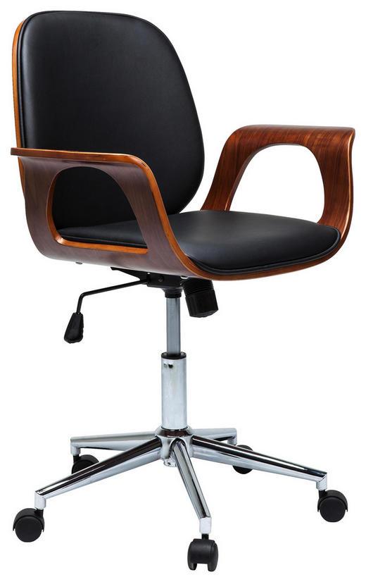 DREHSTUHL - Chromfarben/Nussbaumfarben, Trend, Holz/Textil (66,5/101/56cm) - Kare-Design