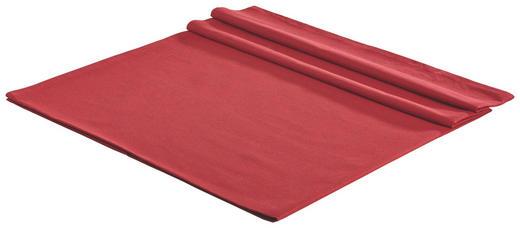 TISCHDECKE Textil Leinwand, Struktur Rot 150/250 cm - Rot, Basics, Textil (150/250cm) - NOVEL