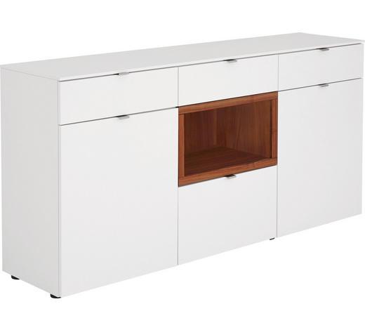 SIDEBOARD 180/88/43 cm - Nussbaumfarben/Alufarben, Design, Holz/Holzwerkstoff (180/88/43cm) - Venjakob