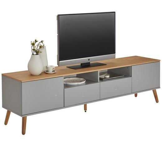 TV-ELEMENT 192/54/43 cm - Eichefarben/Grau, MODERN, Holz/Holzwerkstoff (192/54/43cm) - Lomoco