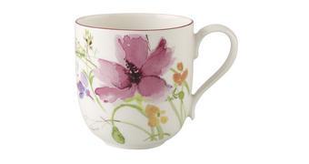 LONČEK ZA KAVO MARIEFLEUR - roza/modra, Trendi, keramika (0,35l) - Villeroy & Boch