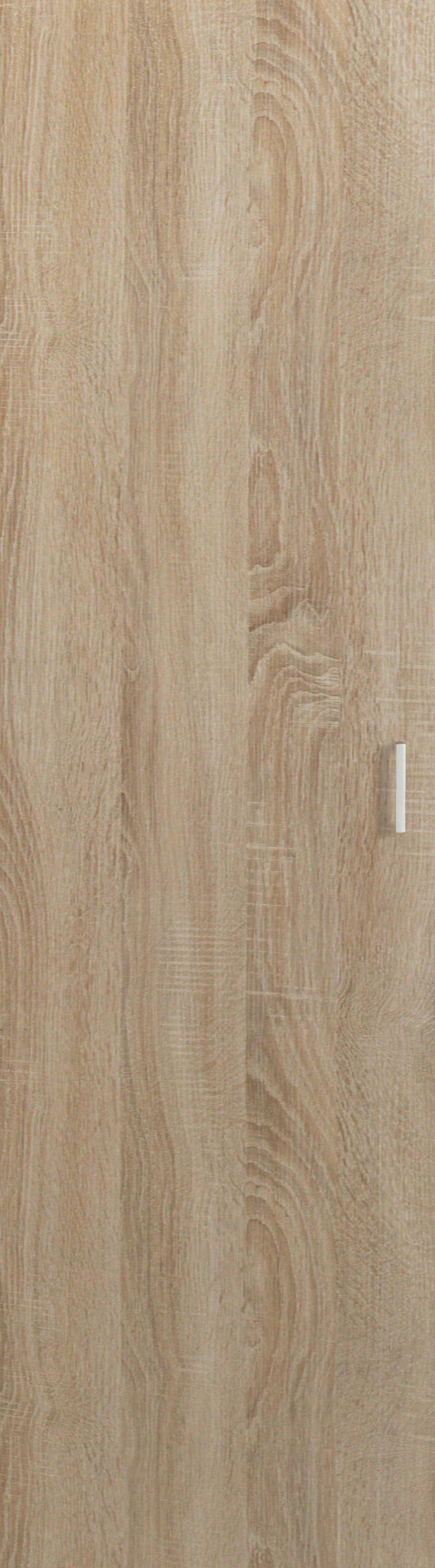 TÜR - Eichefarben/Silberfarben, KONVENTIONELL, Holzwerkstoff/Kunststoff (51/183/1,5cm) - CS SCHMAL