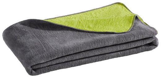 WOHNDECKE 150/200 cm Dunkelgrau, Grün - Dunkelgrau/Grün, Basics, Textil (150/200cm) - NOVEL