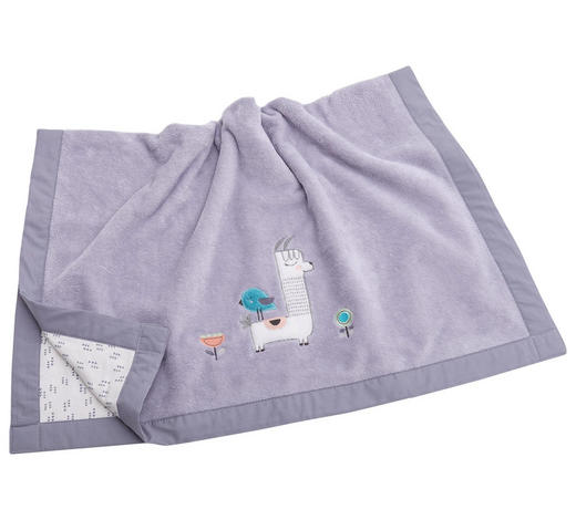 SCHMUSEDECKE 75/100 cm - Grau, Basics, Textil (75/100cm)
