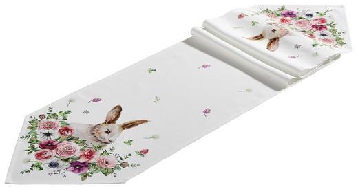 TISCHLÄUFER Textil Rosa, Weiß 33/180 cm - Rosa/Weiß, LIFESTYLE, Textil (33/180cm) - Esposa