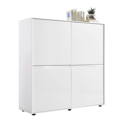 BYRÅ - vit/svart, Design, träbaserade material/plast (120,5/120,5/40cm) - Novel