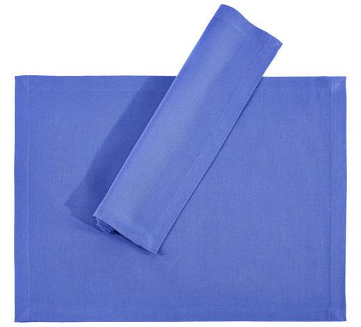 TISCHSET 33/45 cm Textil  - Blau, Basics, Textil (33/45cm) - Novel