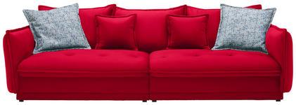 BIGSOFA in Textil Rot - Rot, Design, Textil (295/88/134cm) - Hom`in